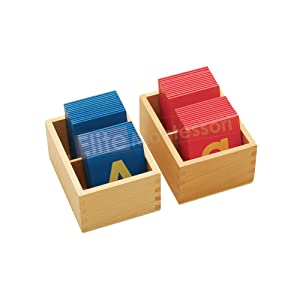 Elite Montessori Lower and Capital Case Sandpaper with box
