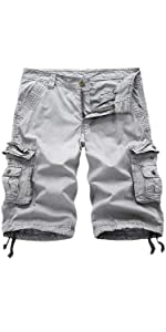 Men's Cargo Shorts Cotton Twill Multi Pockets Outdoor Wear