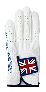 golf gloves UK flag design for men women club