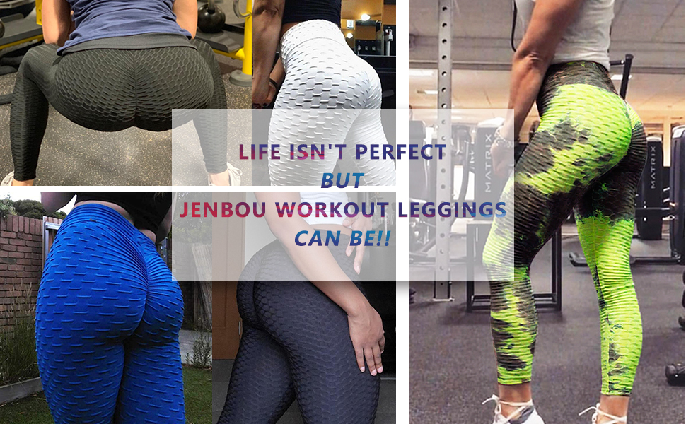 GIVEKI Camouflage Leopard Peach Butt Lifting Workout Leggings for Women Tummy Control Scrunch Yoga Pants