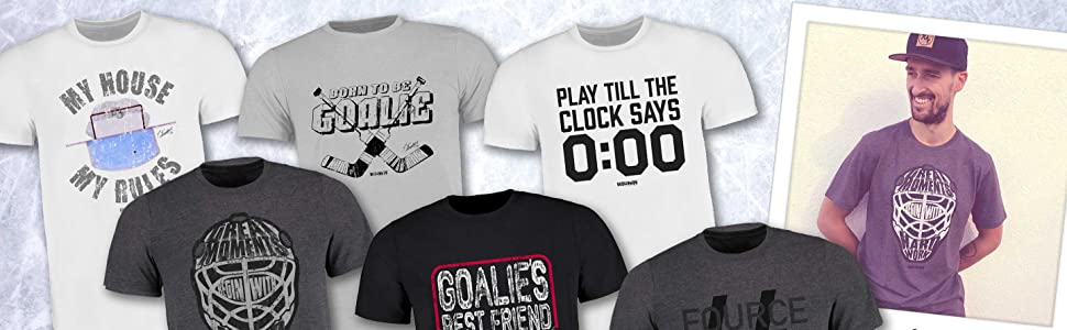3XL I A BRAYCE/® Collaboration offizielle Goalie Dennis Endras FOURCE44 Collection Scallywag/® Eishockey Kinder T-Shirt Great Goalie Moments I Gr/ö/ßen S