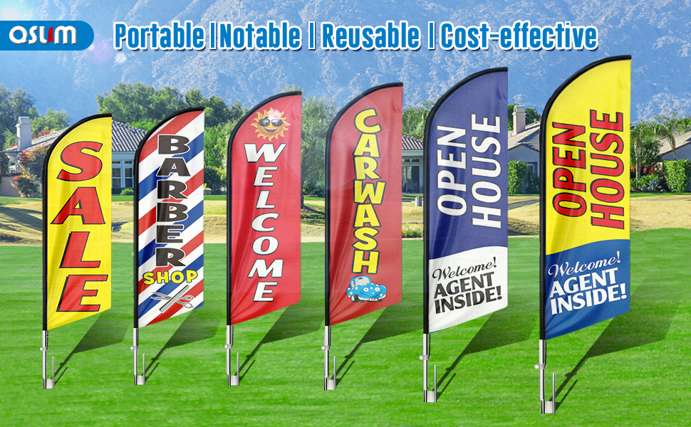 Advertising flag ,Feather flag,Commercial flag,Open house sign