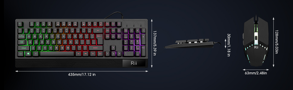 RGB Wired Gaming Keyboard and mouse Combo