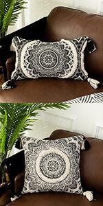 OJIA Farmhouse Throw Pillow Cover