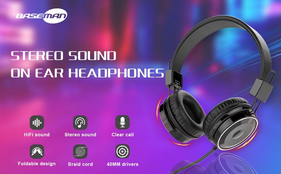 Lightweight and Folding Portable Headphone