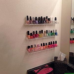 nail polish shelf for wall
