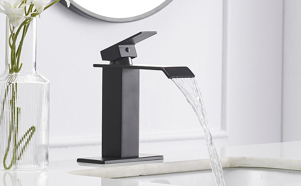Forme Minimal Bathroom Turn /& Release Matt Black
