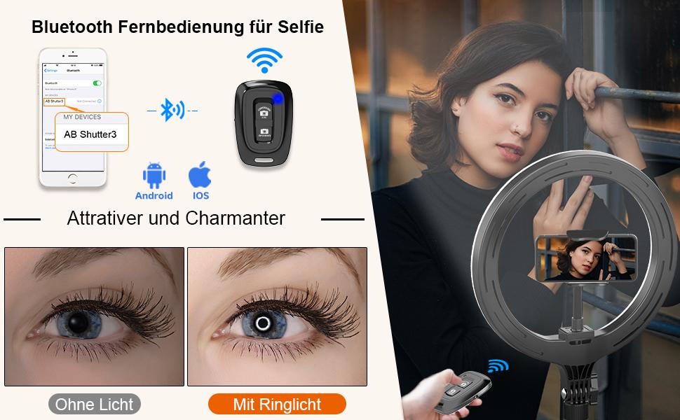 Tryone Ringlicht Mit Stativ Led Selfie Ringleuchte 10 Kamera
