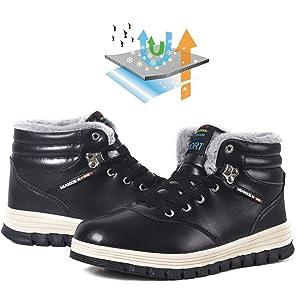 snow boots for men waterproof