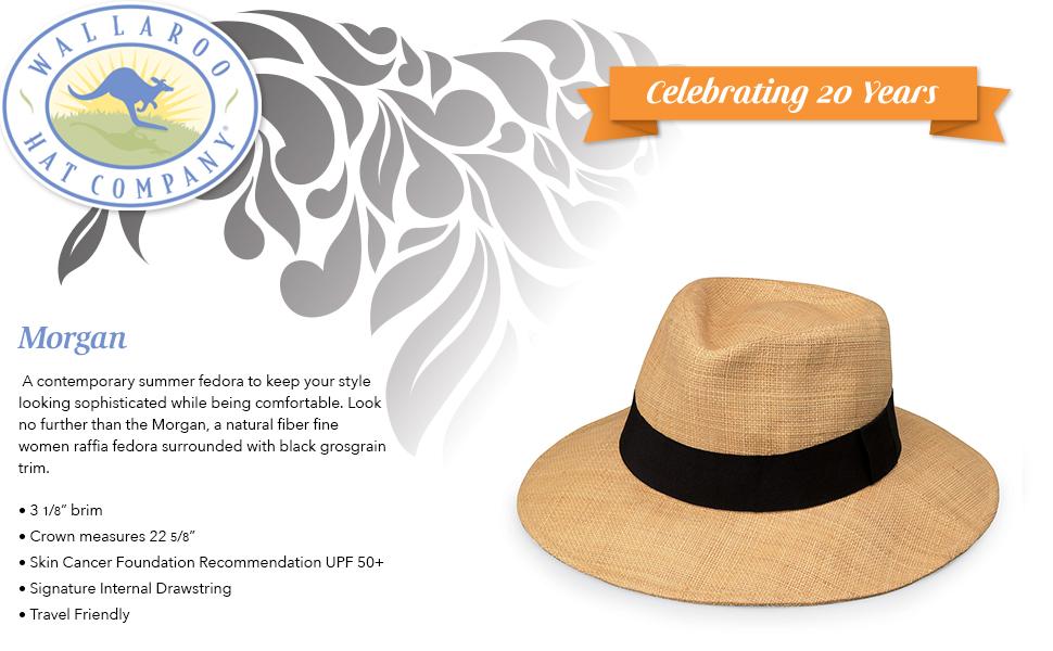 wallaroo hat company serious sun protection womens morgan UPF 50+ adjust fit for activities sun hat