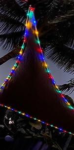triangle sun shade sail canopy shade with led lights