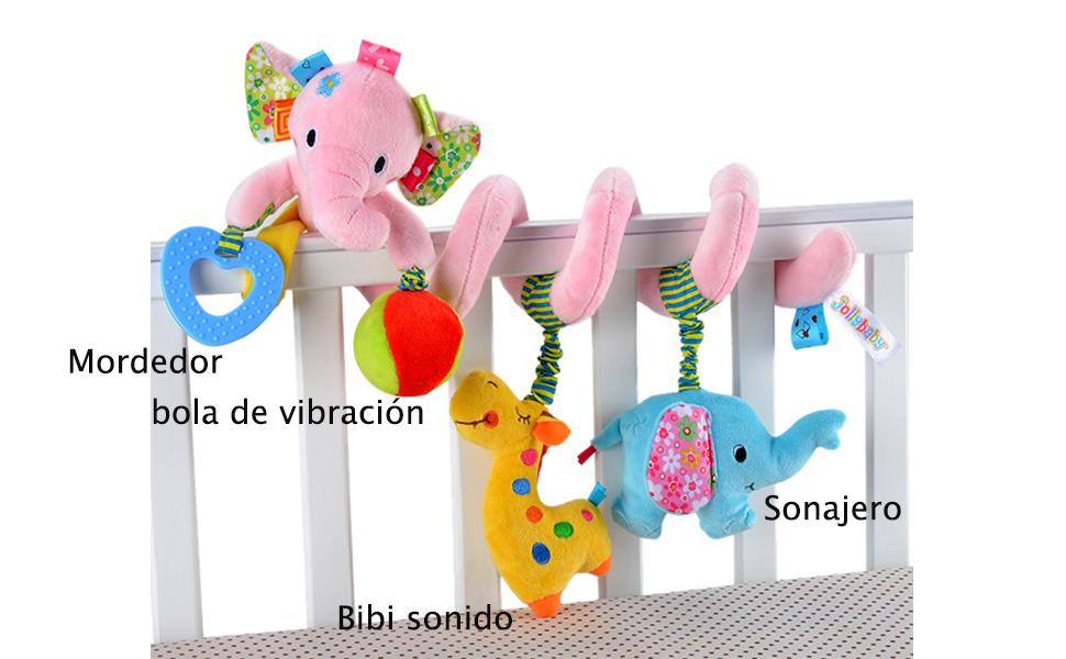 Happy Cherry Juguete Peluche Espiral de Actividades Sonajero con ...