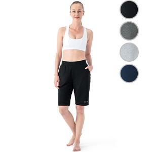 Naviskin Womens Yoga Shorts Bermuda Shorts with Pockets Workout Lounge Home Indoor Casual Shorts