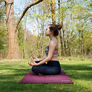 tapis yoga sport fitness pliable voyage leger