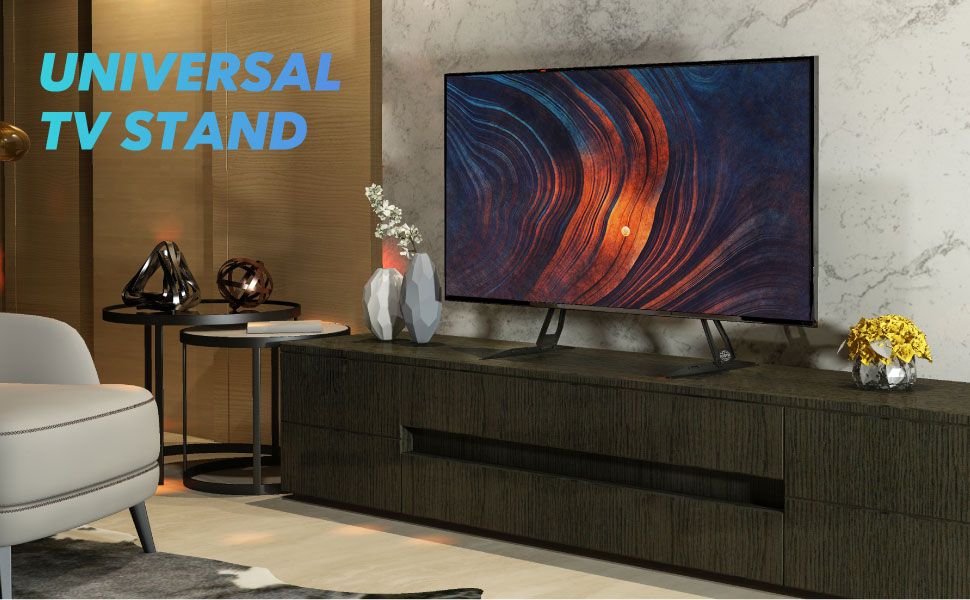 Universal LCD Flat Screen TV Table Top Stand Base Mount fits 27 to 60 inch TV