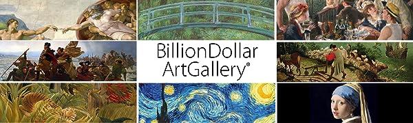 Billion Dollar Art Gallery Logo USB Paintings Art TV