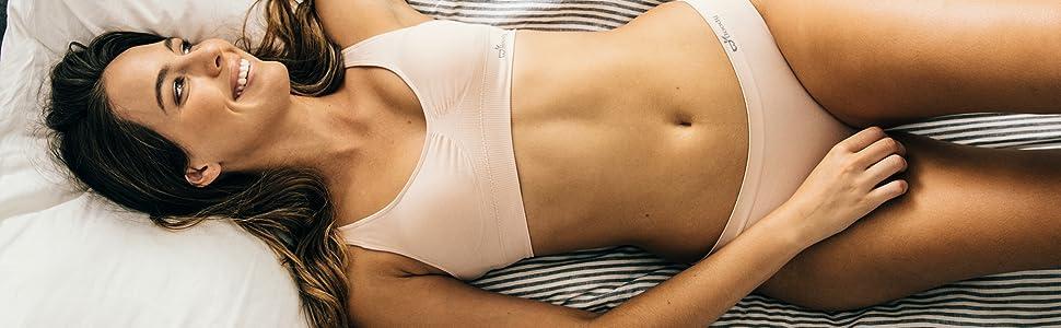 Boody body organic bamboo bra bralette bralet padded wireless women ladies girls lounge sleep pad