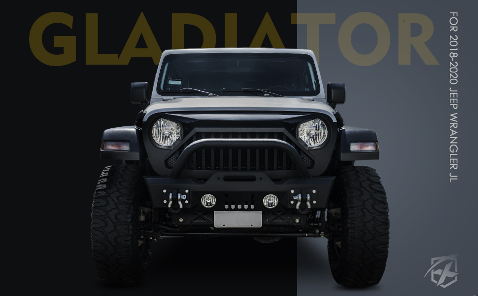 Diamondback Series Xprite Front Black Grille with Mesh Grill for 2018-2020 Jeep Wrangler JL