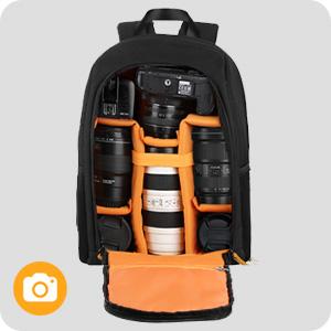 camera laptop backpack