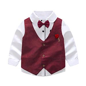 Nwada Trajes para Niño Ropa Chaleco Corbata de moño Camisas y ...