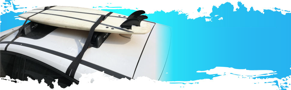 Onefeng Sports Car Roof Rack Pads Kayak Soft Roof Rack for Surfboard SUP Boat Carrier with Straps