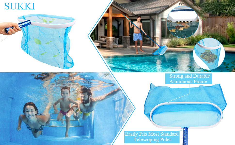 Amazon Com Sukki Heavy Duty Pool Net Deep Bag Pool