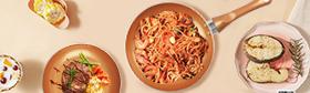 KUTIME 6pcs Cookware Set Non-stick Ceramic Coating Stockpot Cooking Pot Copper Aluminum Pan