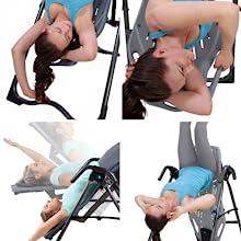 FlexTech Bed, inversion table, acupressure nodes, lumbar bridge