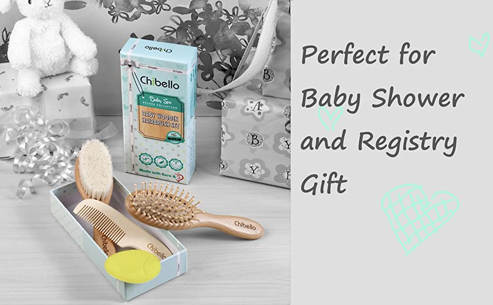 Great Baby shower registry gift baby hair brush set