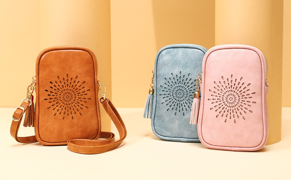 APHISON Small Crossbody Bag Cellphone Purse for Women Girls Mini Messenger Dating Shoulder Bag/Gift