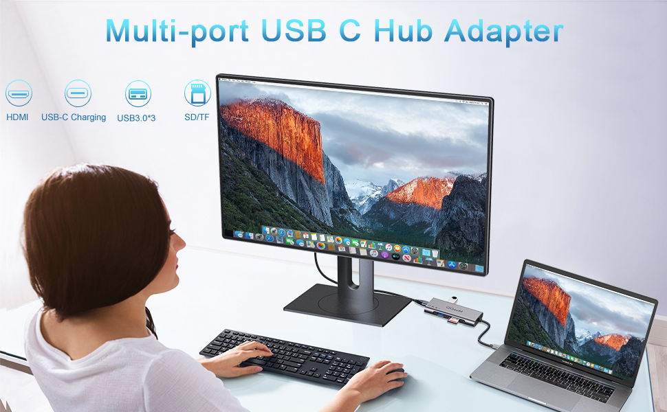 Multi-port USB C Hub Adapter