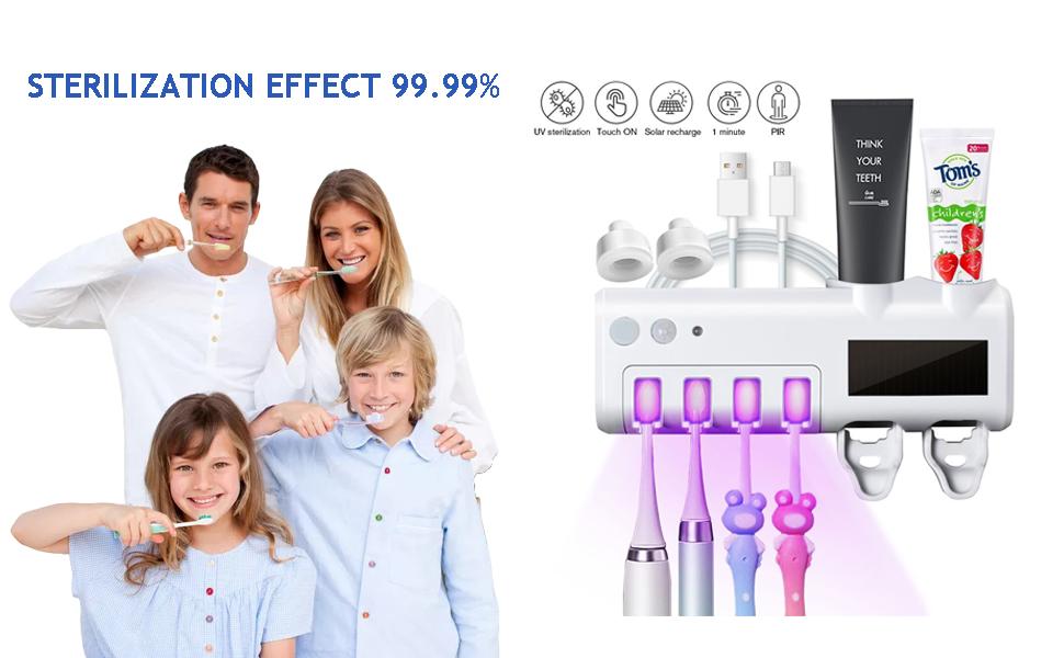 UV Toothbrush sanitizer,Sterilization Effect 99.99%