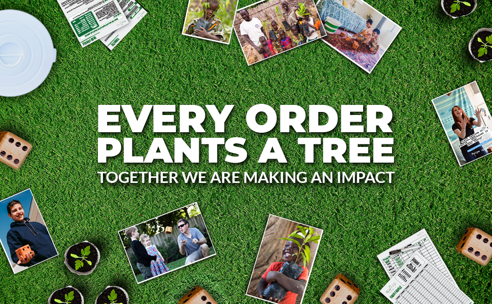 Every Order Plants a Tree. Together we are making an impact that can be felt globally.