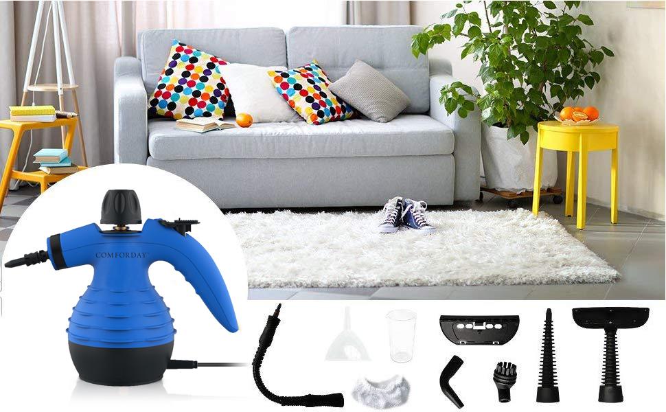 Blanc Vapeur Tissu Couvres Jeu D/'Outils Kit Maison Sol Remplacement Accessoires