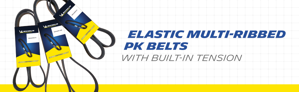 build-in tension elastic ribbed pk belts MICHELIN
