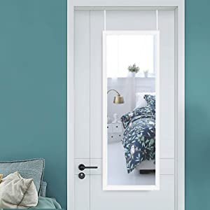 Elev ens White Door Mirror