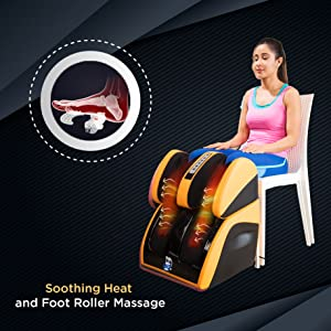 soothing massage with foot rollers and heat