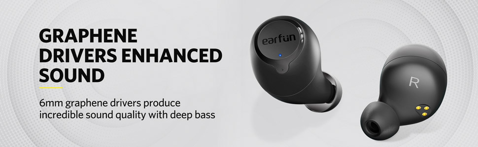 authentic sound and powerful bass performance with 6mm large size speaker driver