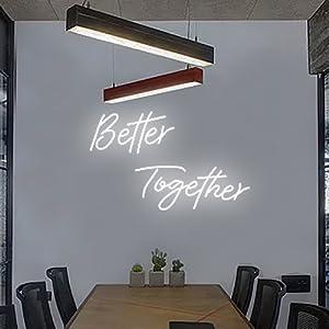 Better together neon sien