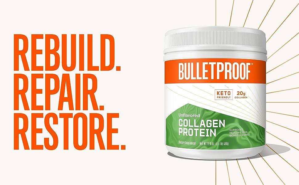 collagen protein mct bulletproof brain octane oil