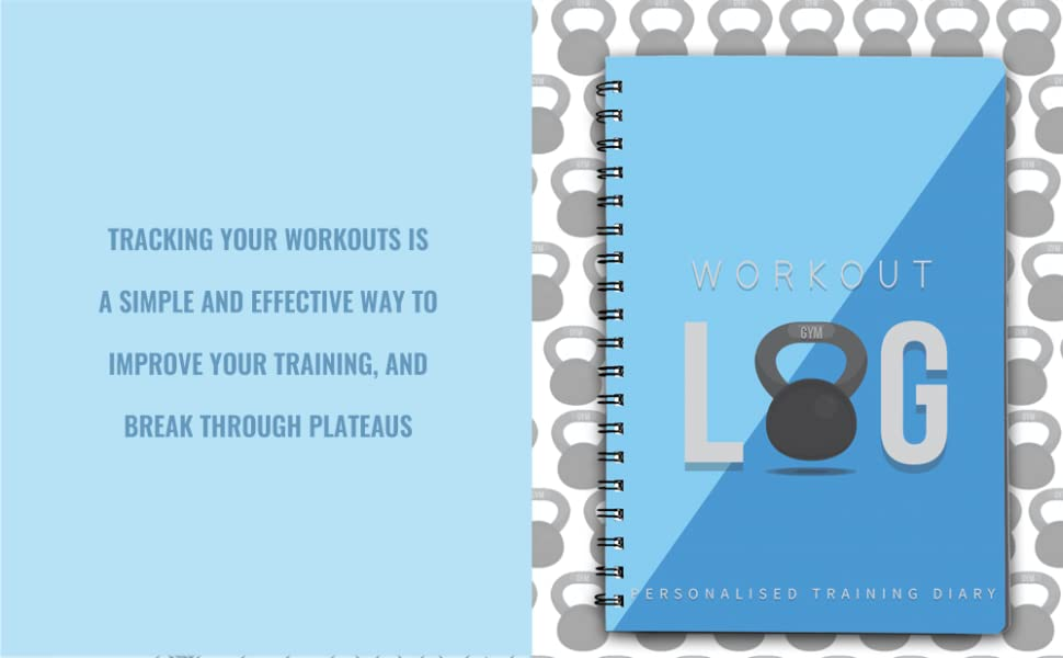 WORKOUT LOG GYM DIARY BLUE TRACK WORKOUTS IMPROVE TRAINING BREAK PLATEAUS ACCESSORY BEST