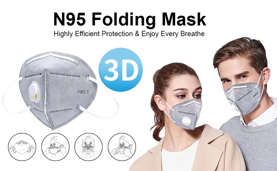 N95 Folding Mask
