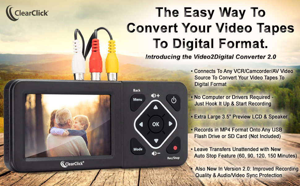 Video To Digital VHS To Digital Format Converter Capture Device