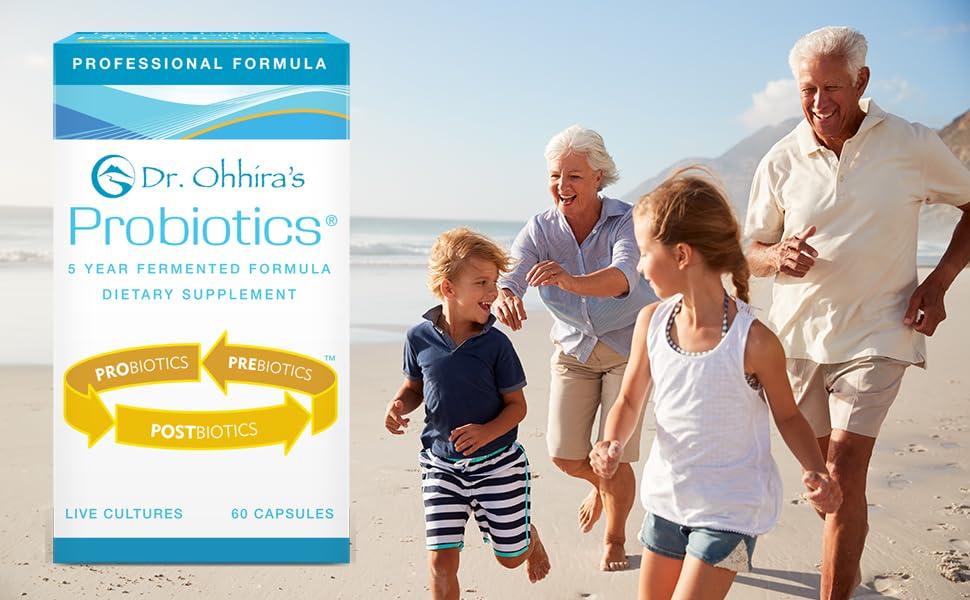 Dr. Ohhira's Professional Probiotic, senior couple with grandchildren