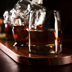 Middle Finger Bird Whiskey Decanter Set Gag Gift White Elephant liquor box