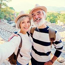 Senior couple enjoying travelling