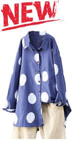 button down shirts polka tops