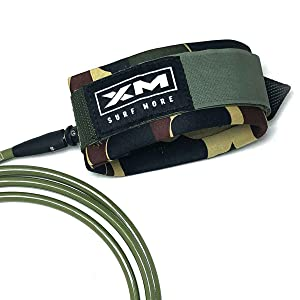 .313in XM Surfboard Leash//Knee//Calf//Big Wave //// Made in USA 3 Year Stoked Warranty