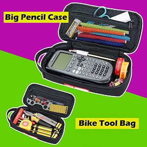 Estuche organizador de lápices lápices lápices de arte de la escuela suministros de bicicleta bolsa de herramientas de la tienda de herramientas para el coche