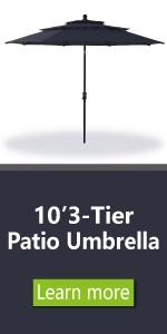 3 tier umbrella navy